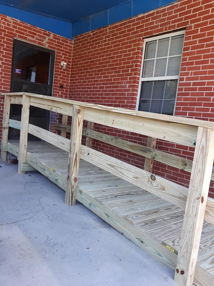 wooden ramp