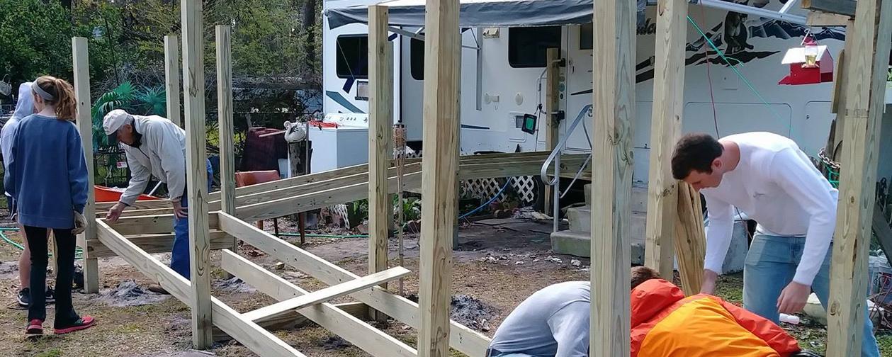 Building ramp froundation